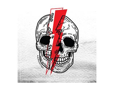 Against Me against me bowie skeleton punk black work line work design spooky linework skull blackwork tattoo illustration