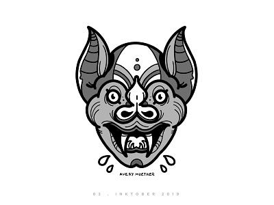 Bat Boy illustration procreate ipad halloween vampire spooky inktober bat