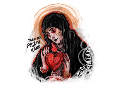 Lady of Sorrows. saint bleeding illustration lady of sorrows ipad procreate mcr my chemical romance