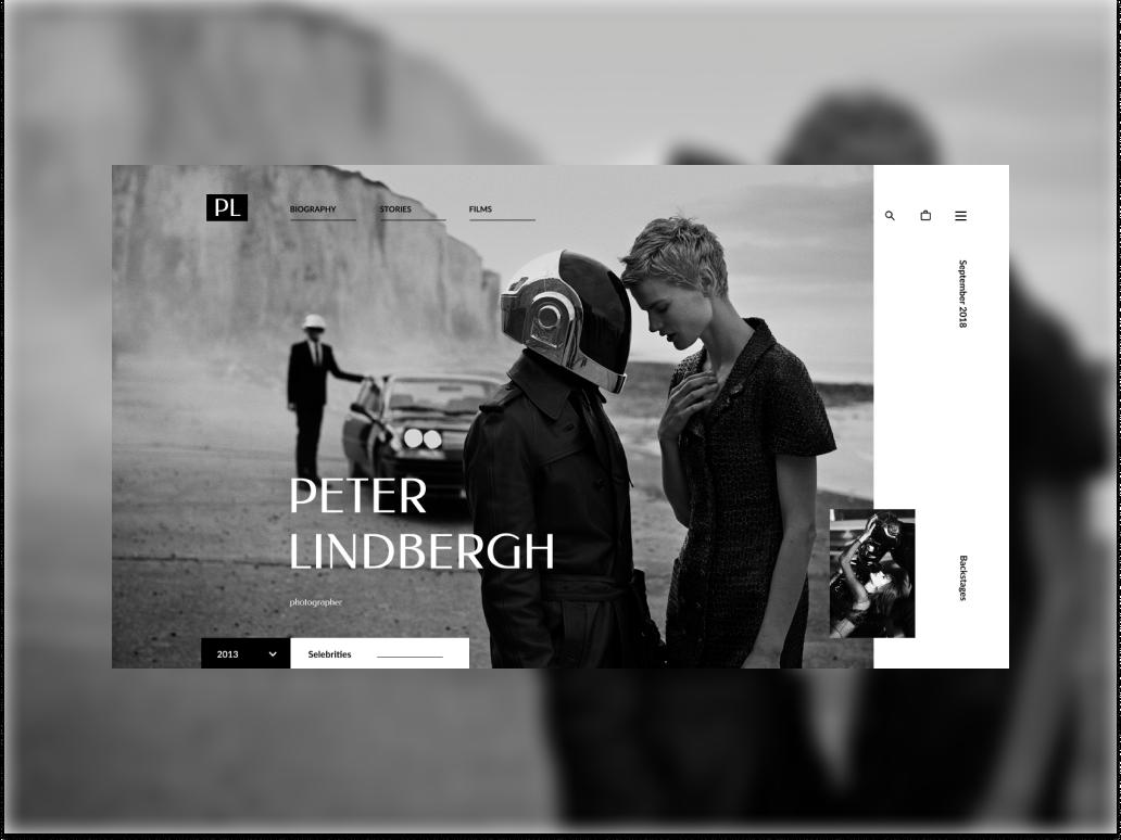 Concept for Peter Lindbergh photographer website typography ui ux webdesigner web webdesign design