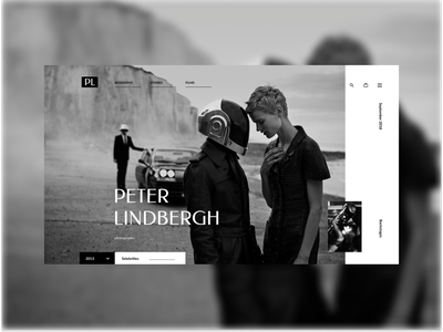 Concept for Peter Lindbergh photographer website typography ui ux webdesigner web webdesign design
