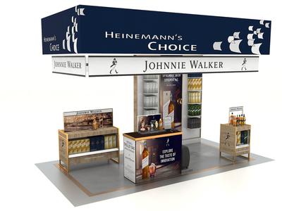 Johnie Walker For the Heinemann`s Choice Brand corona package design 3d design 3ds max