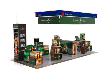 Johnie Walker Hamburg Exhibition Stand corona 3ds max stand design