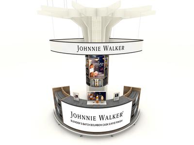 Johnie Walker corona 3ds max stand design