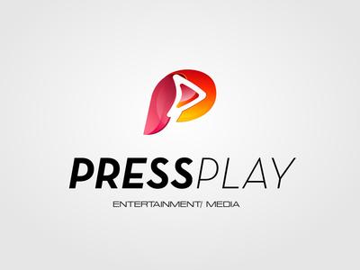 Press Play Logo Concept logo concept graphic design logo design