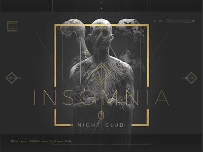 Insomnia Night Club Dubai share artman agency dubai art designer portfolio creative  design ui  ux design web