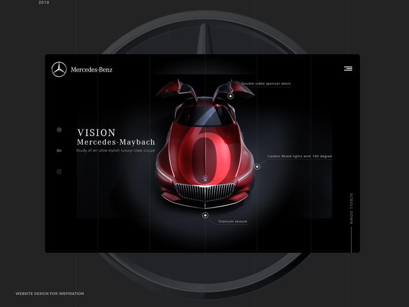 Vision Mercedes Maybach 6. inspirational webdesigner cardesign mercedes benz design agency web