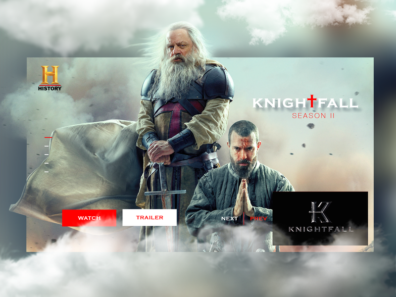 Knighfall Season 2 Ui & UiX Inspirational Design after affects animation after effects homepage design minimalism knightfall design website animation inspiration ui  ux web