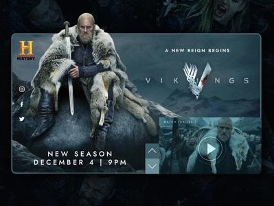 Vikings Season 6 - Concept Website Design