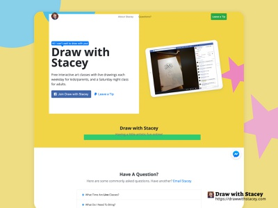 Draw With Stacey ui  ux social campaign marketing branding design front-end development frontend development frontend design front end front-end frontend website design web design website web