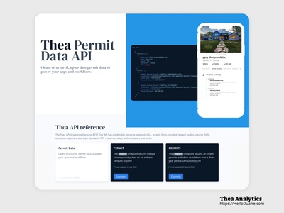 Thea api website & documentation website design website web design mobile ui mobile web ui  ux marketing branding design