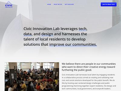 Civic Innovation Lab community nonprofits non profit non-profit nonprofit civictech ui  ux ui mobile ui mobile web marketing branding design