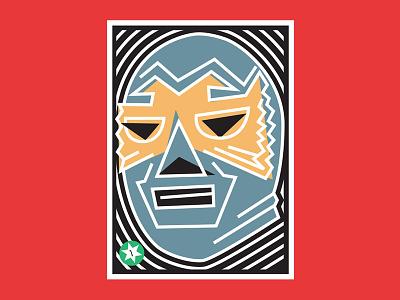 Jungla II luchalibre cards loteria packaging beer design illustration vector wrestling luchador
