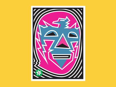 Aguila Real luchalibre cards loteria packaging beer design illustration vector wrestling luchador