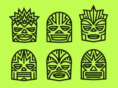 Cruz Blanca - lucha masks