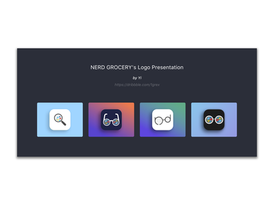 icon design for Nerd Grocery brand logo grocery nerd icon