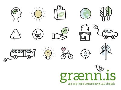 Graenn.is - environment green icons