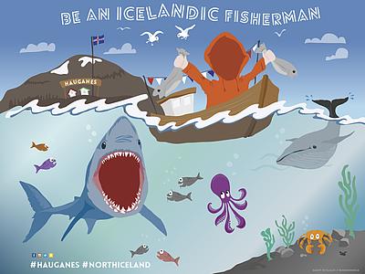 Be an Icelandic Fisherman sign illustration