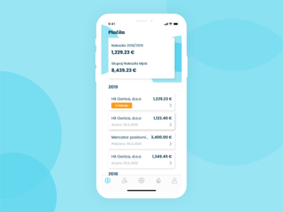 Finance App History