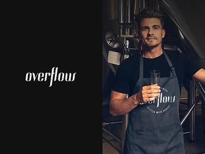 Overflow Logo Design beer logo beer branding brand identity wordmark logo design logo brand design branding