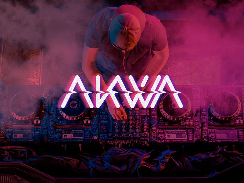 Akwa Dj Logo lettering design vector type typography branding brand logo