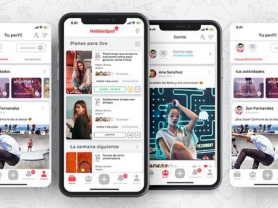 Hobbiespot hobbies social plans uxui ux design app