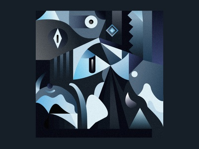 Lake noise vector ilustracion drawing shapes square color blue digital art colorful illustration geometry dribbble digital abstract