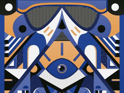 Reaper composition inspiration symmetry geometric art geometry pop indie band music poster poster reaper vector artist vector illustration