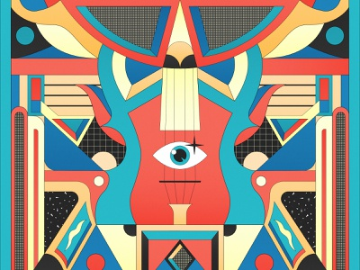 Sound colorful abstract vector artwork geometric design shapes vector art musical art music sound vector illustration geometric art vector illustration geometry