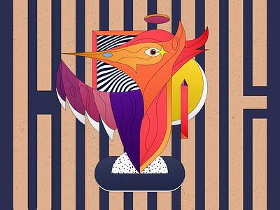 Crane vectorial illustration wildlife art vector colorful typography digital artwork shapes abstract crane animal illustration lettering animal wildlife geometry