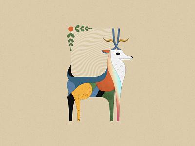 Magical Reindeer geometric art colorful vector illustration christmas animal gradient geometry wildlife merry christmas character design character reindeer christmas illustration