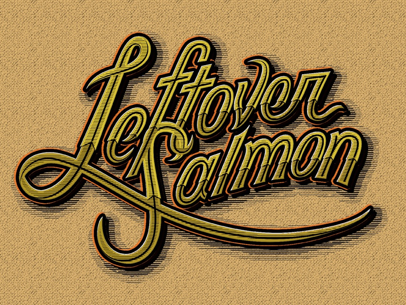 Leftover Salmon – Fall tour typography