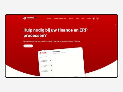Enshore website UX/UI and development branding logo development website webdesign ux ui design