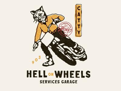 Catty vintage design badges vintage badge old vector branding t-shirt design illustration badge design vintage