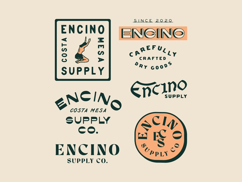 Encino Supply Co. vector vintage design vintage badge branding t-shirt design illustration badge design vintage