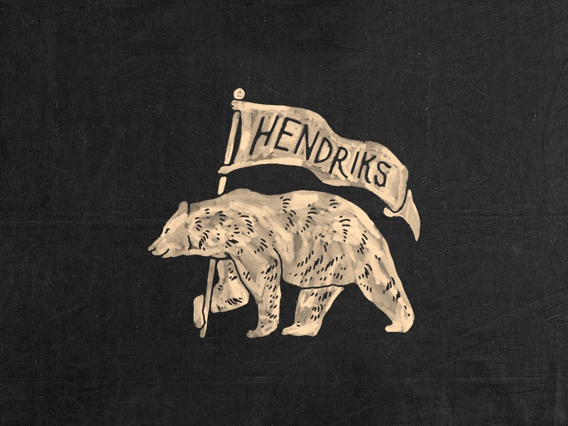 Hendriks Grooming Co. Icon handdrawn badges vintage design vintage badge branding t-shirt design illustration badge design vintage icon design iconography icon