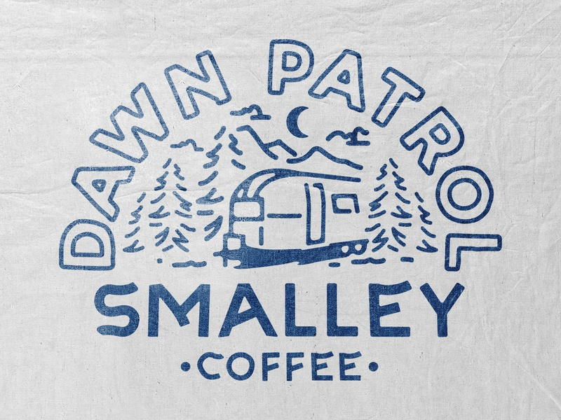 Smalley Coffee coffee t-shirt design branding illustration badge design vintage