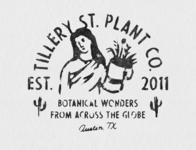 Tillery St. Plant Co. handdrawn badges vintage design vector vintage badge t-shirt design branding illustration badge design vintage