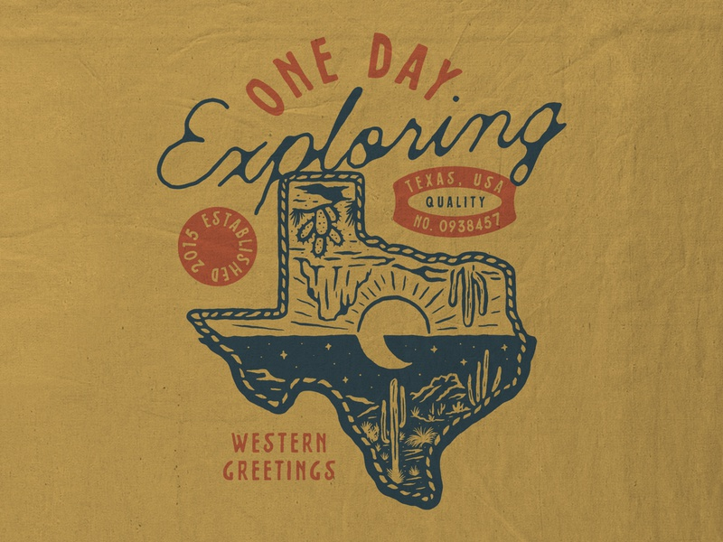 One Day Exploring badges vintage design vector vintage badge t-shirt design branding illustration badge design vintage