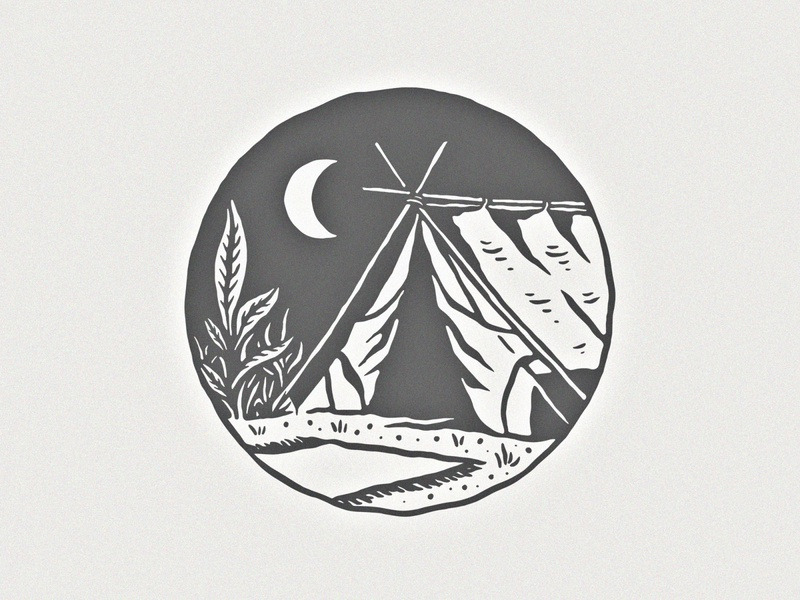 Simply Tent wild nature badge logo badge design handdrawn handdrawing vintage illustration