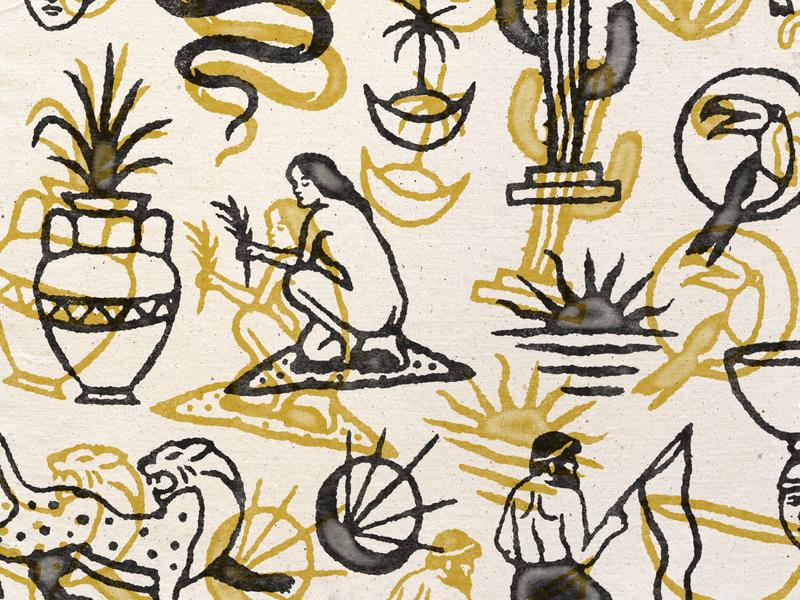 Some Illustrations handdrawn badges vintage design vector vintage badge t-shirt design branding illustration badge design vintage
