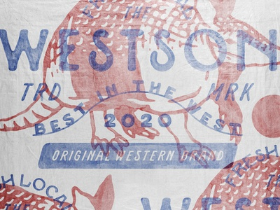 Westson western armadillo badges handdrawn vintage design vintage badge t-shirt design branding illustration badge design vintage