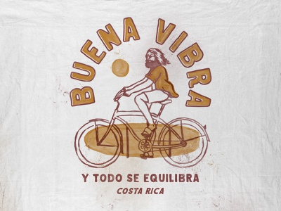 Buena Vibra paradise summer beach vintage badge t-shirt design branding illustration badge design vintage