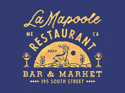La Mapoole badges vintage design handdrawn vector vintage badge t-shirt design branding illustration badge design vintage