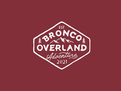 Bronco Overland Adventure Branding adventure jeep bronco font typography badges handdrawn vintage design vintage badge t-shirt design branding illustration badge design vintage