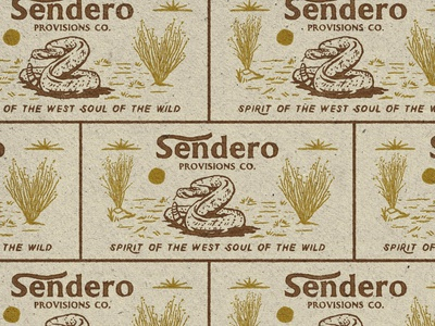 Rattlesnake Sendero Spring 21 retro old snake handdrawn vintage badge t-shirt design branding illustration badge design vintage