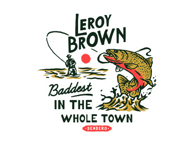 Leroy Brown vector badges handdrawn vintage design vintage badge t-shirt design branding illustration badge design vintage