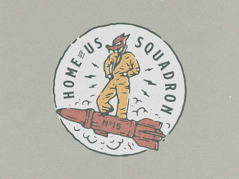 Hous Squadron illustration branding vintage design for sale badge design t-shirt design