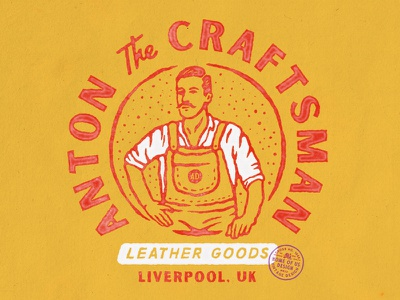 Anton the Craftsman vintage design badge design illustration design liverpool craftsman