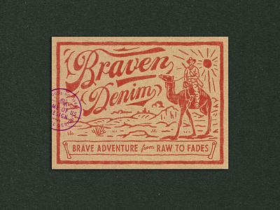 Braven Denim denim design denim branding illustration badge design vintage